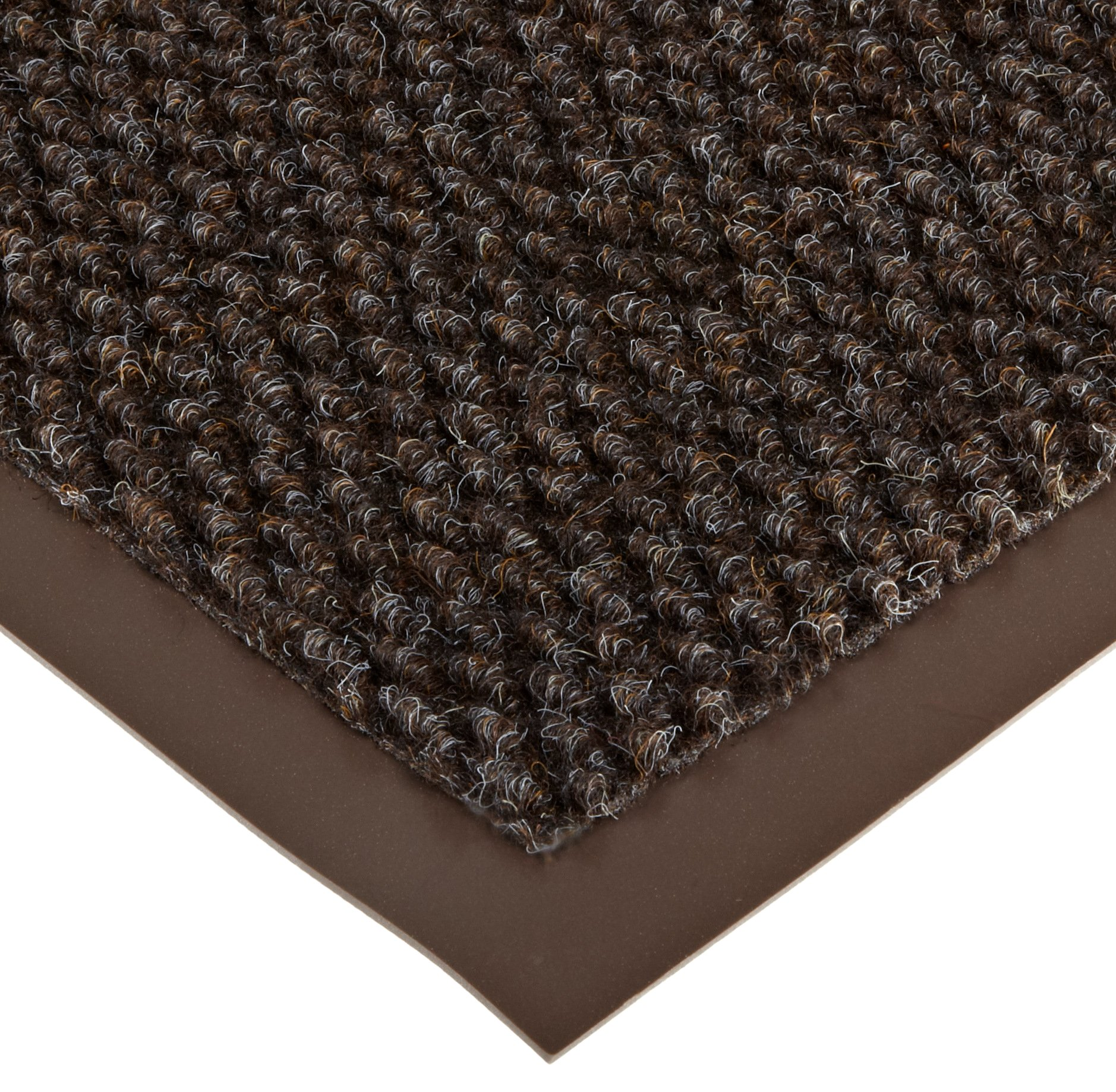 Notrax 136 Polynib Entrance Mat, for Lobbies and Indoor Entranceways, 3' Width x 6' Length x 1/4'' Thickness, Brown