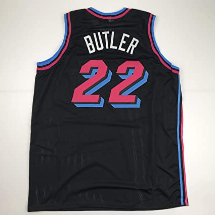 quality design 01beb 3e290 Unsigned Jimmy Butler Miami Black City Vice Custom Stitched ...