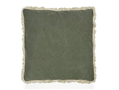 ANDREA HOUSE - Cojín Verde de algodón y poliéster 45x45cm ...