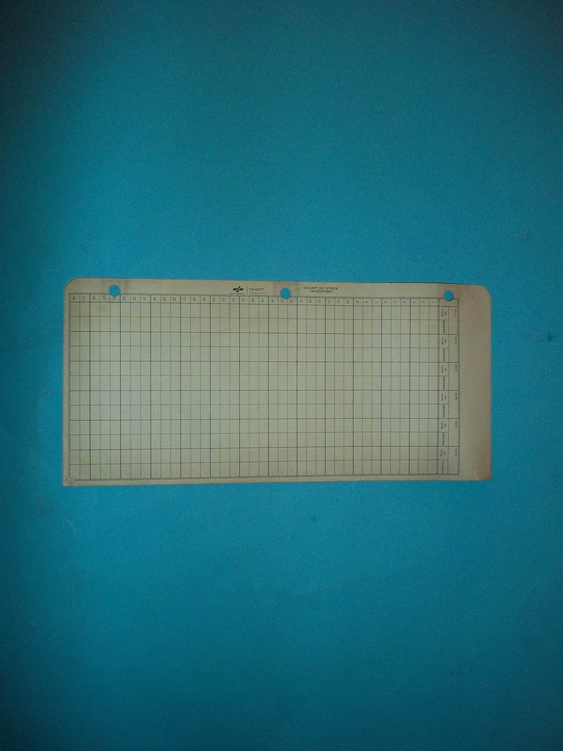 National 15-007 Count of Stock Inventory Sold in Bulk Packages of 12 Sheets