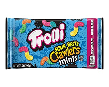 2516599cd17 Amazon.com   Trolli Mini Sour Brite Crawlers Gummy Worms