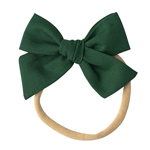 71a7b9a05d3f0 Handmade Cotton Hair Bows For Baby Girls and Toddlers (One Size Fits All)