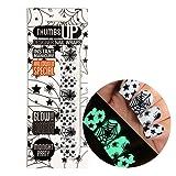 ThumbsUp Nails Midnight Party Glow in the Dark Halloween Nail Wraps / Self-adhesive / Nail Foil Polish Strips / Nail Art Stickers / 20 Wraps Per Pack