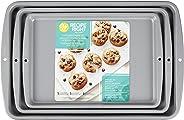 Wilton Cookie Sheet Pan Set, Recipe Right, Set of 3