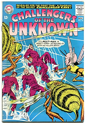 Amazon.com: CHALLENGERS OF THE UNKNOWN #40 1964-DC COMICS- CAVE MAP ...
