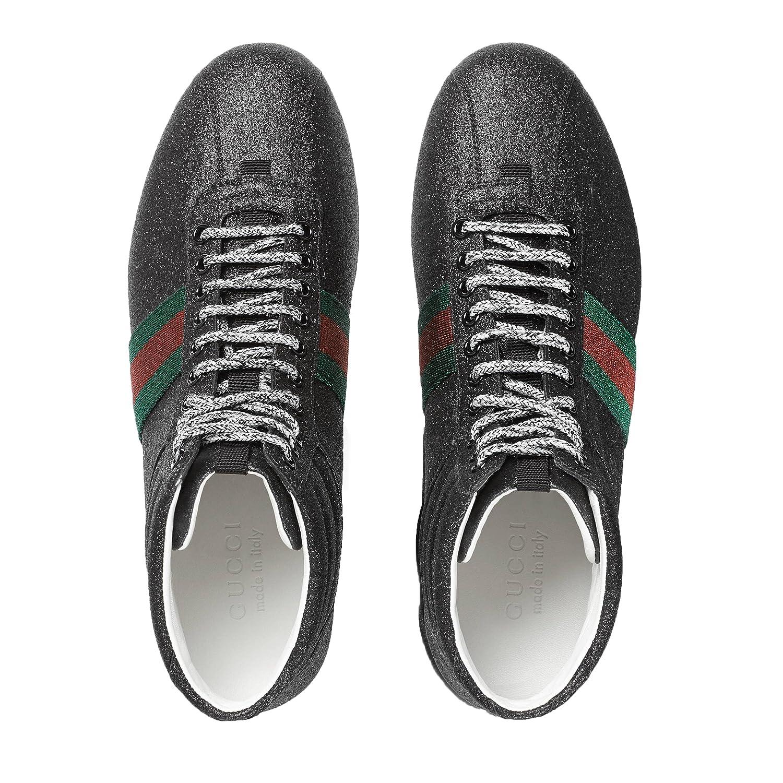 d820ea81e8b4 Gucci Men's Glitter Web High-top Sneaker, Black (Nero) 429598 (13 US / 12.5  UK): Amazon.ca: Shoes & Handbags
