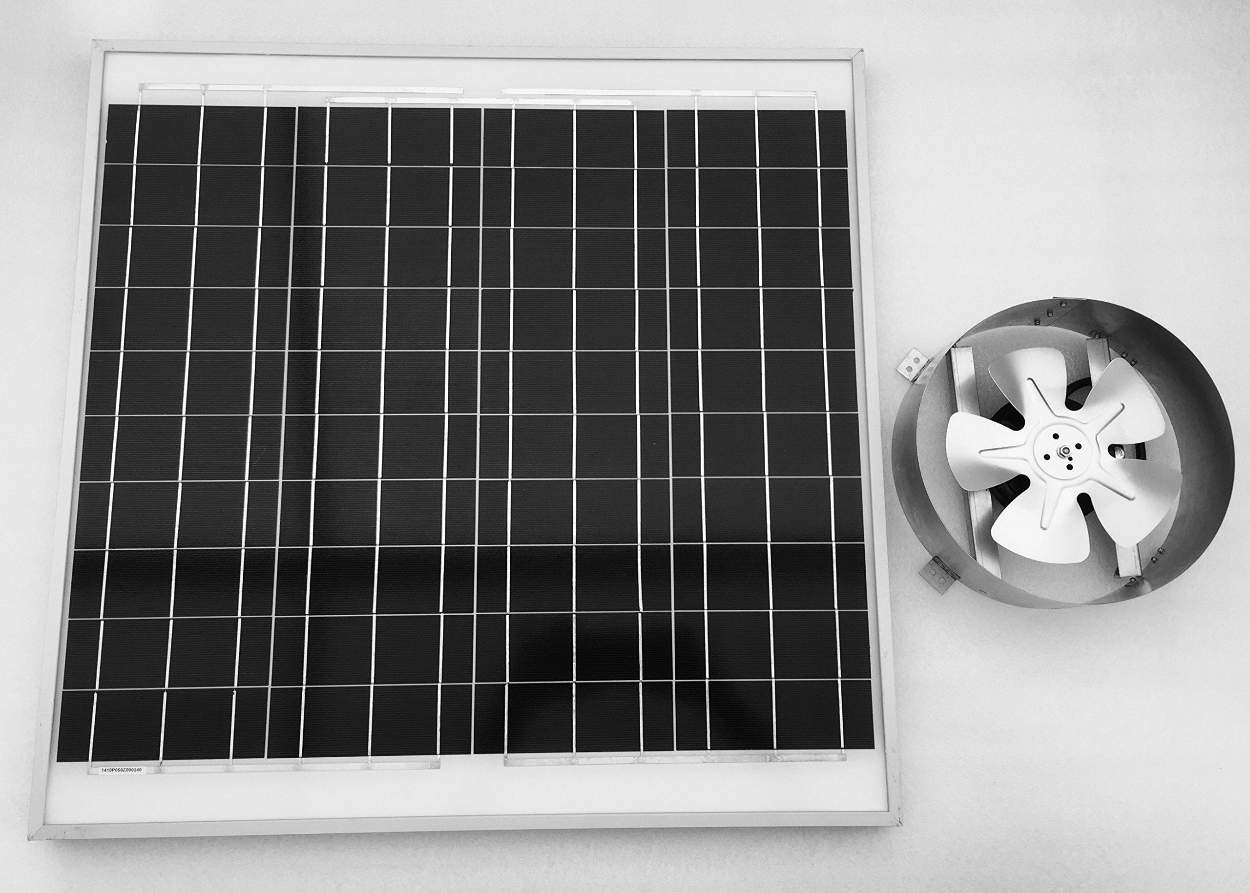 Amtrak Solar 70 Watt Solar Attic Fan