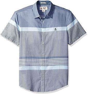 6fe77e2d01bb4 Amazon.com: Original Penguin Men's Short Sleeve Bold Stripe Shirt ...