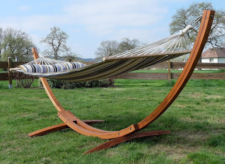 Farbe:HM3-LIM-NATUR-NAGUA cuscino e tutte vite inox de AS-S SAS 320cm supporto par amaca LIMITED EDITION in legno larice con amaca