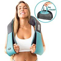 Shiatsu Back Neck Shoulder Massager With Heat Deep Tissue 3D Kneading Pillow