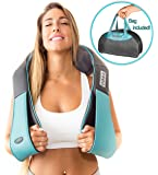 Shiatsu Back Neck and Shoulder Massager with Heat - 3D Kneading Pillow Massager for Neck, Back, Shoulders, Foot & Legs – Electric Body Massager - for Office, Home & Car