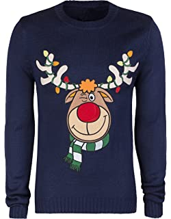 New Mens Twisted Gorilla Xmas Raindeer Stag Christmas Jumper Size Small