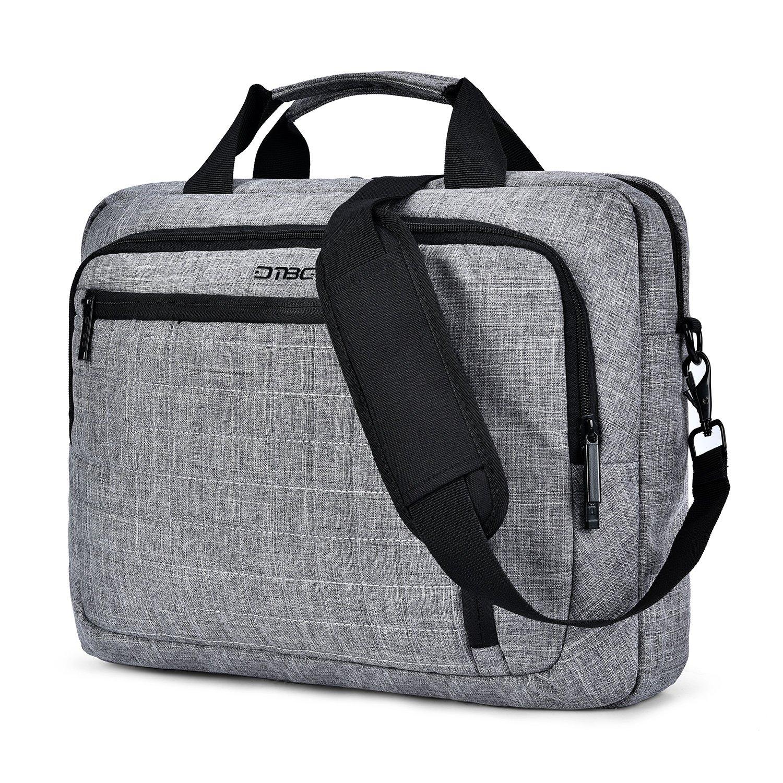 DTBG Laptop Bag Briefcase Shoulder Messenger Bag Water Risistant Laptop Bag Satchel Tablet Bussiness Carrying Handbag Laptop Sleeve for Women and Men Fit 15.6 Inch - Grey