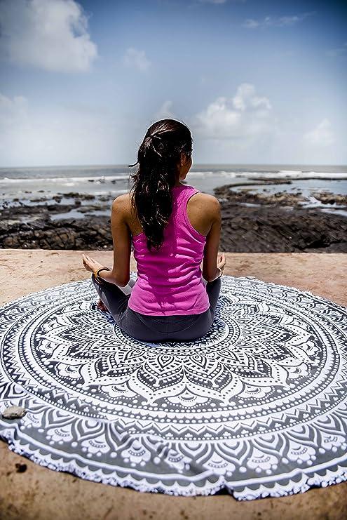 Amazon.com: Indie pop mandala tapiz redondo Hippie Indian ...