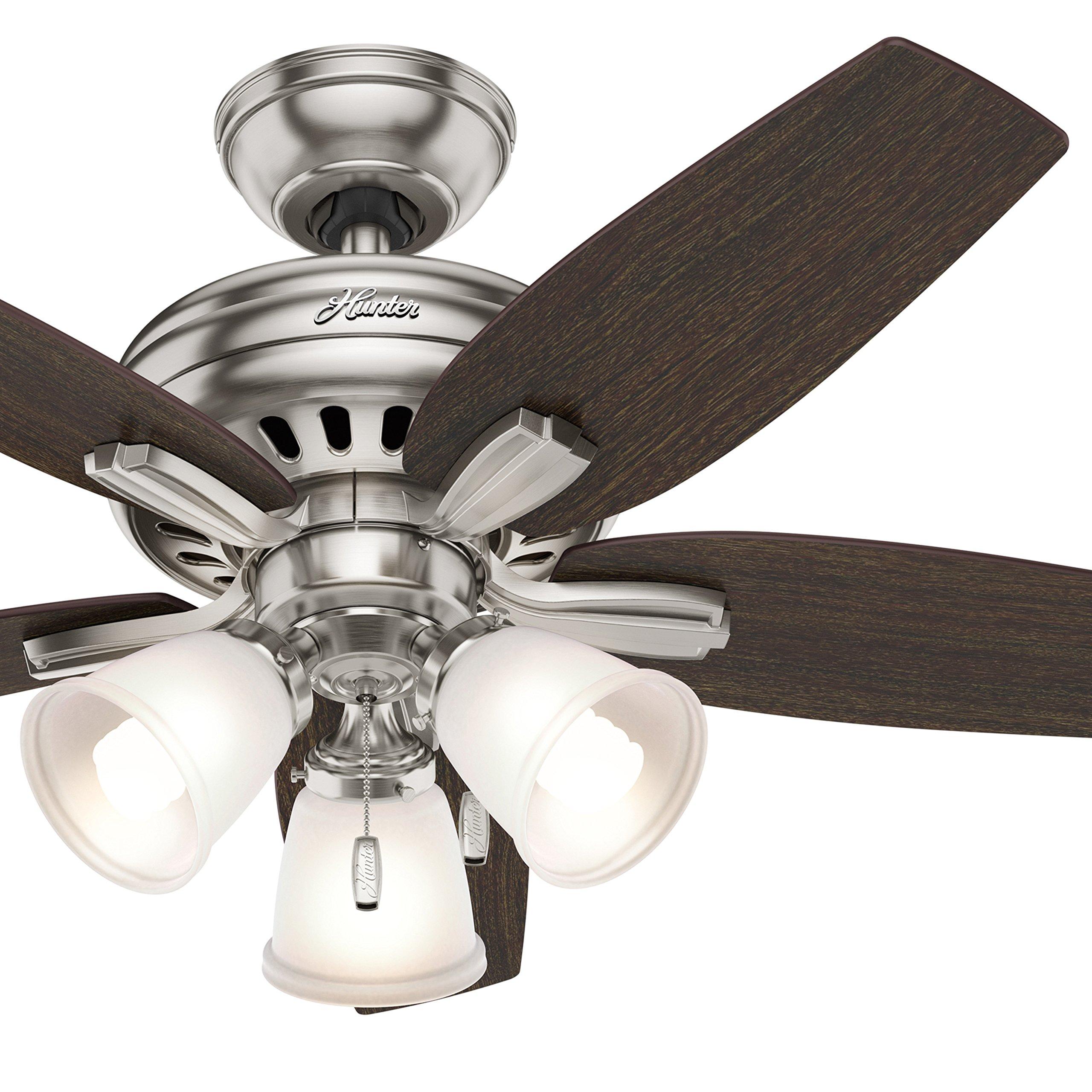 Hunter Fan 42 in. Ceiling Fan with 3 Lights in Brushed Nickel (Certified Refurbished)