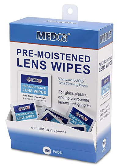 bf93f7d8d9 Premoistened Lens and Glass Cleaning Wipes - Portable Travel Cleaner for  Glasses
