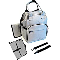 UPGRADE BUNDLE - Get 2 baby bags in 1! Diaper Backpack + Baby Change Clutch - SIKI Innovations - Multifunction Travel…