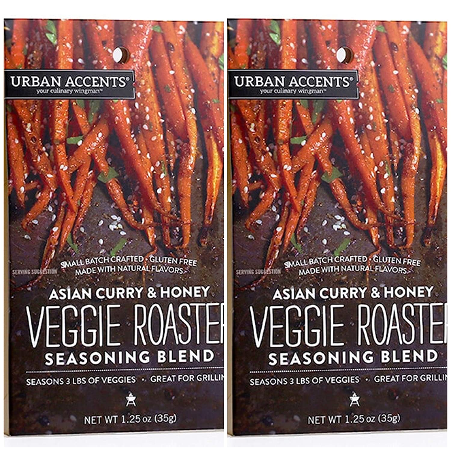 Urban Accents 2 Pack of Asian Curry & Honey Veggie Roaster Pack - GLUTEN FREE
