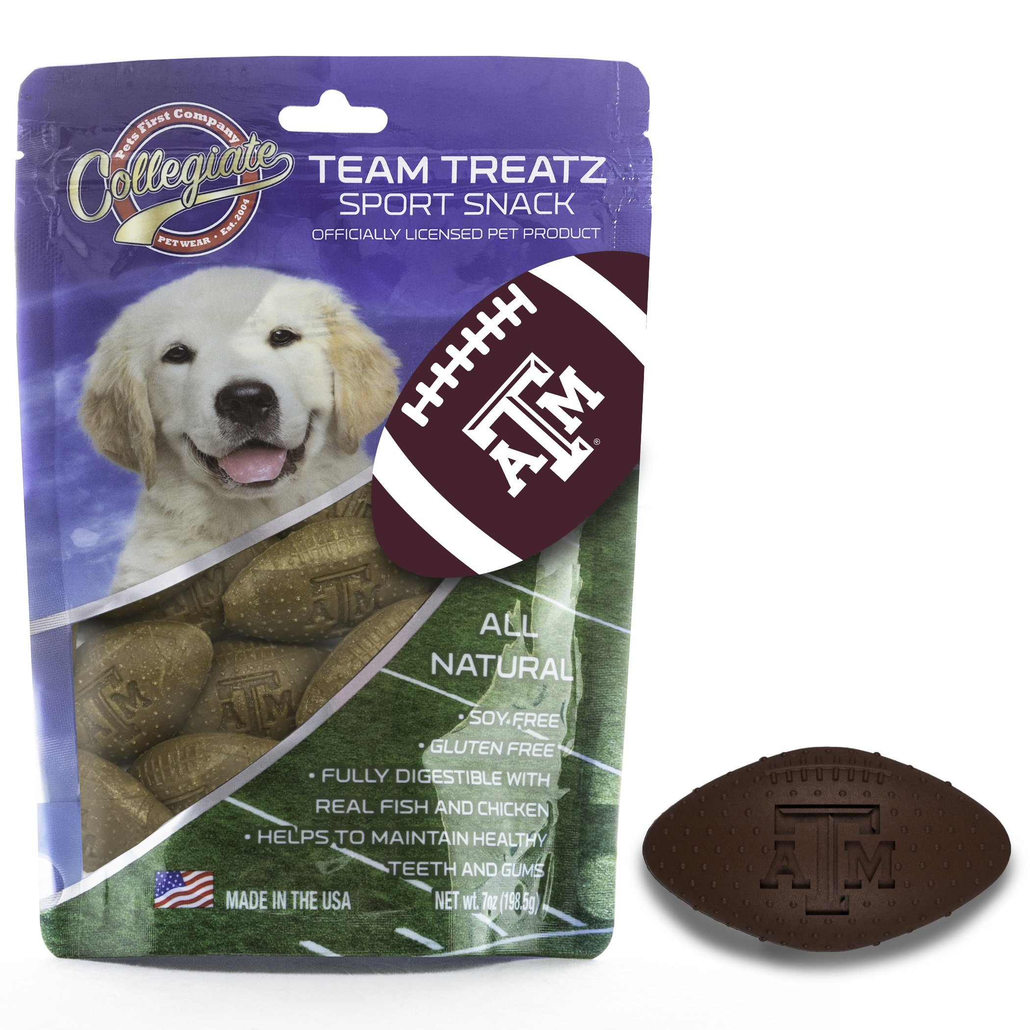 Pets First Collegiate Pet Accessories, Dog Treats, Texas A&M Aggies, 7 oz