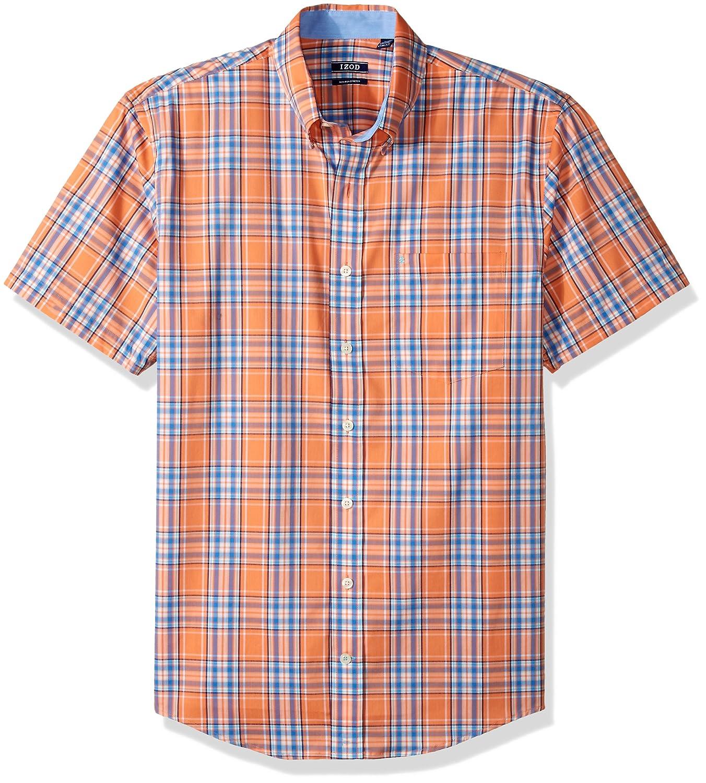 IZOD Men's Big and Tall Advantage Performance Poplin Short Sleeve Shirt IZOD Men's Sportswear 45X3514
