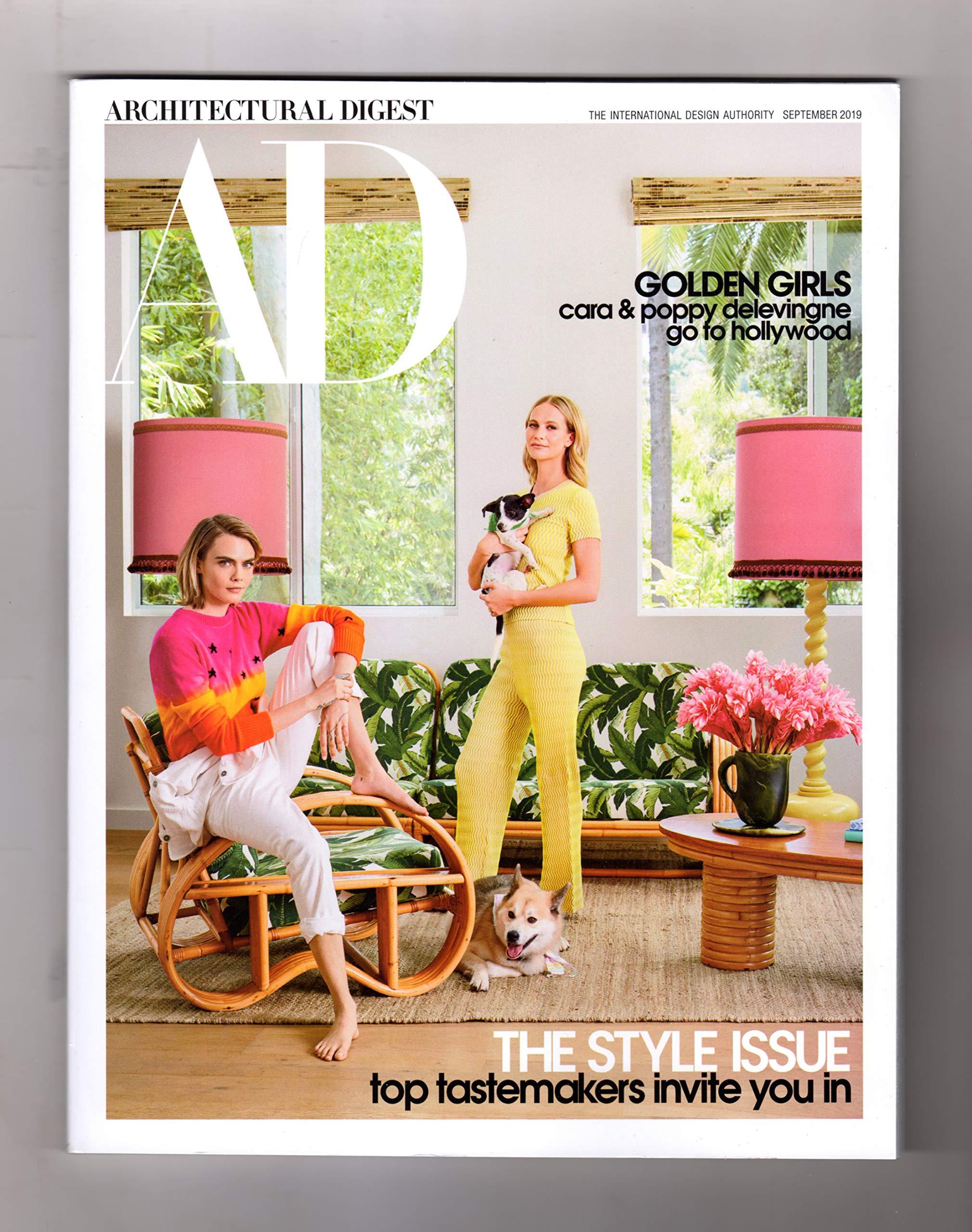 Architectural Digest Magazine September 2019 Cara Poppy Delevingne Generic Amazon Com Books