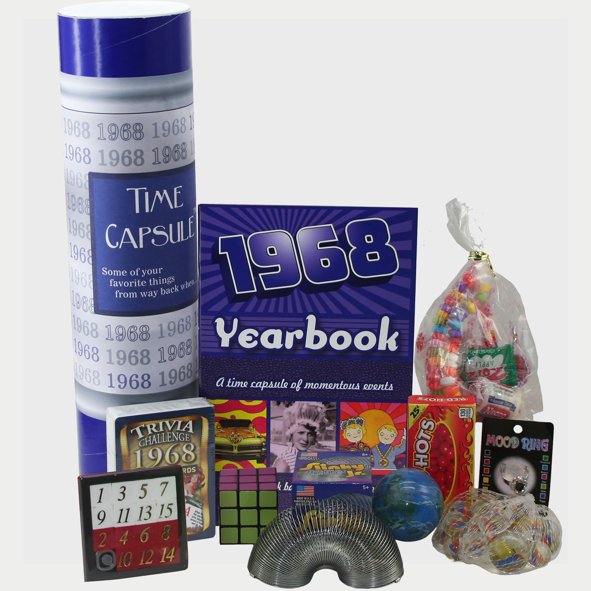 1968 Time Capsule - 50th Birthday Gift for Men or Women