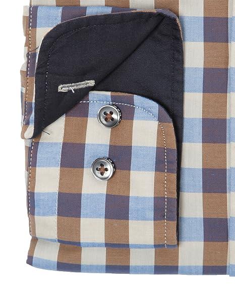 Fynch Hatton Herren Freizeit Hemd Shirt New Vichy kariert Button Down  Kragen beige-braun (XXL): Amazon.de: Bekleidung