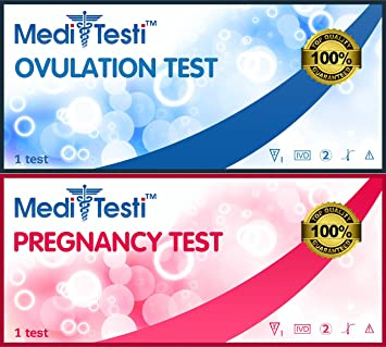 Amazon Com Meditesti Ovulation Pregnancy Test Includes 50