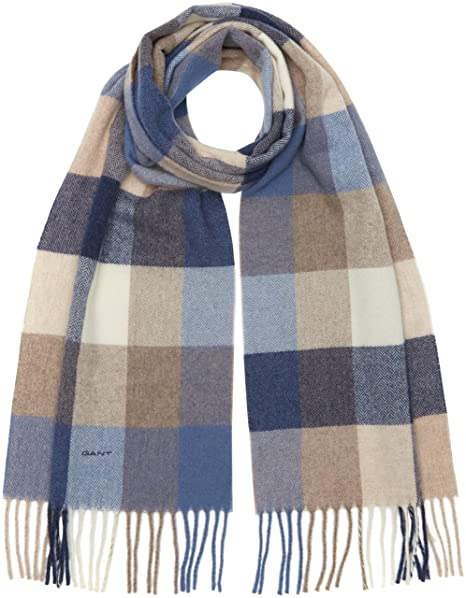 GANT Multicheck Lambswool Womens Scarf Hurricane Blue One Size  Amazon.ca   Luggage   Bags 33ee4a0caf4