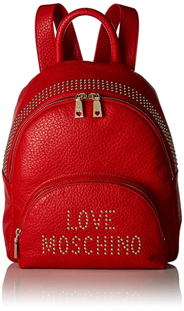 f62c303fa1 Amazon.com: Love Moschino Borsa Grain Pu, Women's Backpack Handbag ...