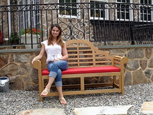 Windsor s Lutyens Genuine Grade A Teak,from Indonesian Plantations, 3 Seater Bench 65 62lbs, 5 Yr Wrty, World s Best Outdoor Furniture,List 1600- SAVE