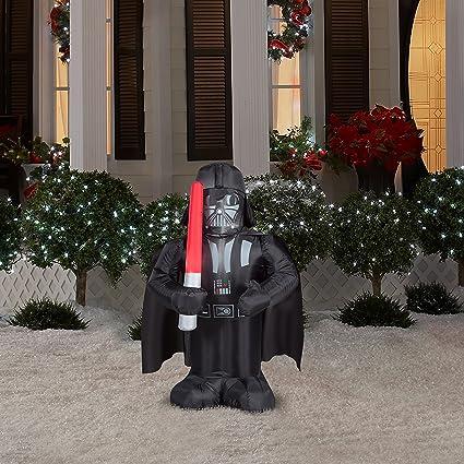 Amazon.com: Star Wars Darth Vader Lighted airblown Papá Noel ...