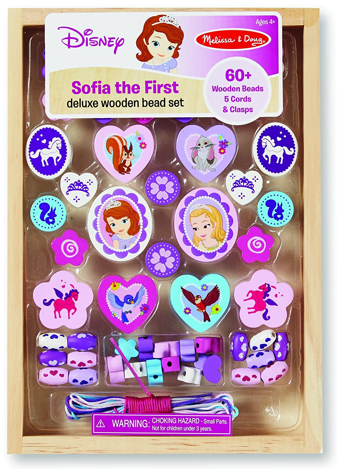 Sofia the First Deluxe Wooden Bead Set by Melissa  Doug