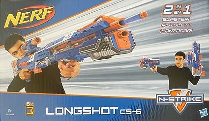 Nerf N Strike Elite Longshot Cs 6 Blue Version Blasters Foam