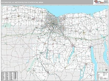 Amazon Com Marketmaps Rochester Ny Metro Area Wall Map 2018
