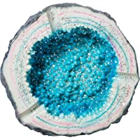 "Colorful Blue Crystal Geode Stone Design 4.25"" Ashtray"