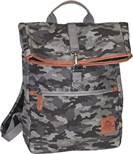 Buxton Expedition II Huntington Gear Fold-Over Backpack, Grey