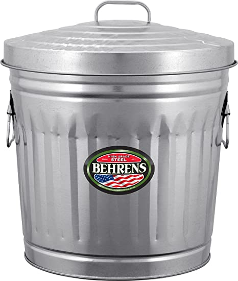 Amazon Behrens Manufacturing 48 Galvanized Steel Trash Can New Exterior Trash Receptacles Creative Painting