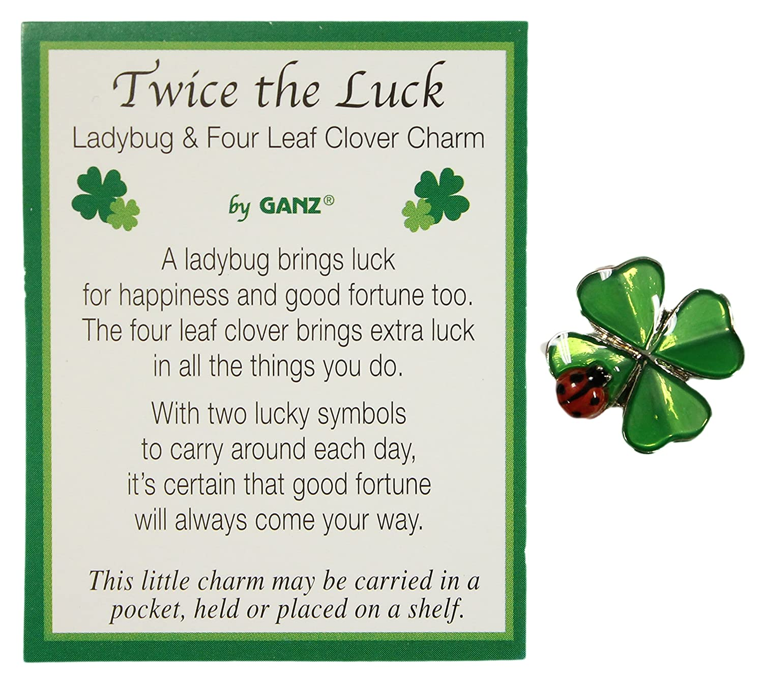 Amazon 1 Ganz Twice The Luck Clover And Lady Bug Charm Home