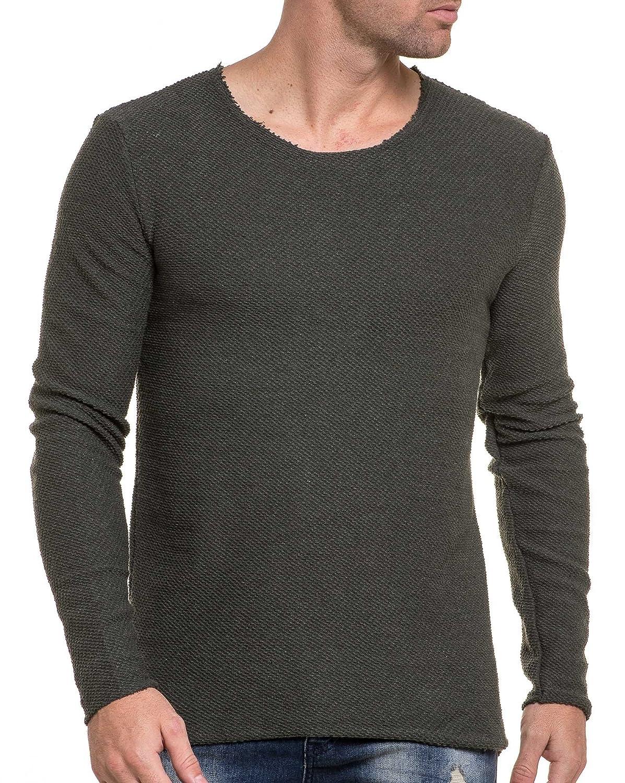 BLZ jeans - Men&#39s Sweaters end khaki mesh and round neckline