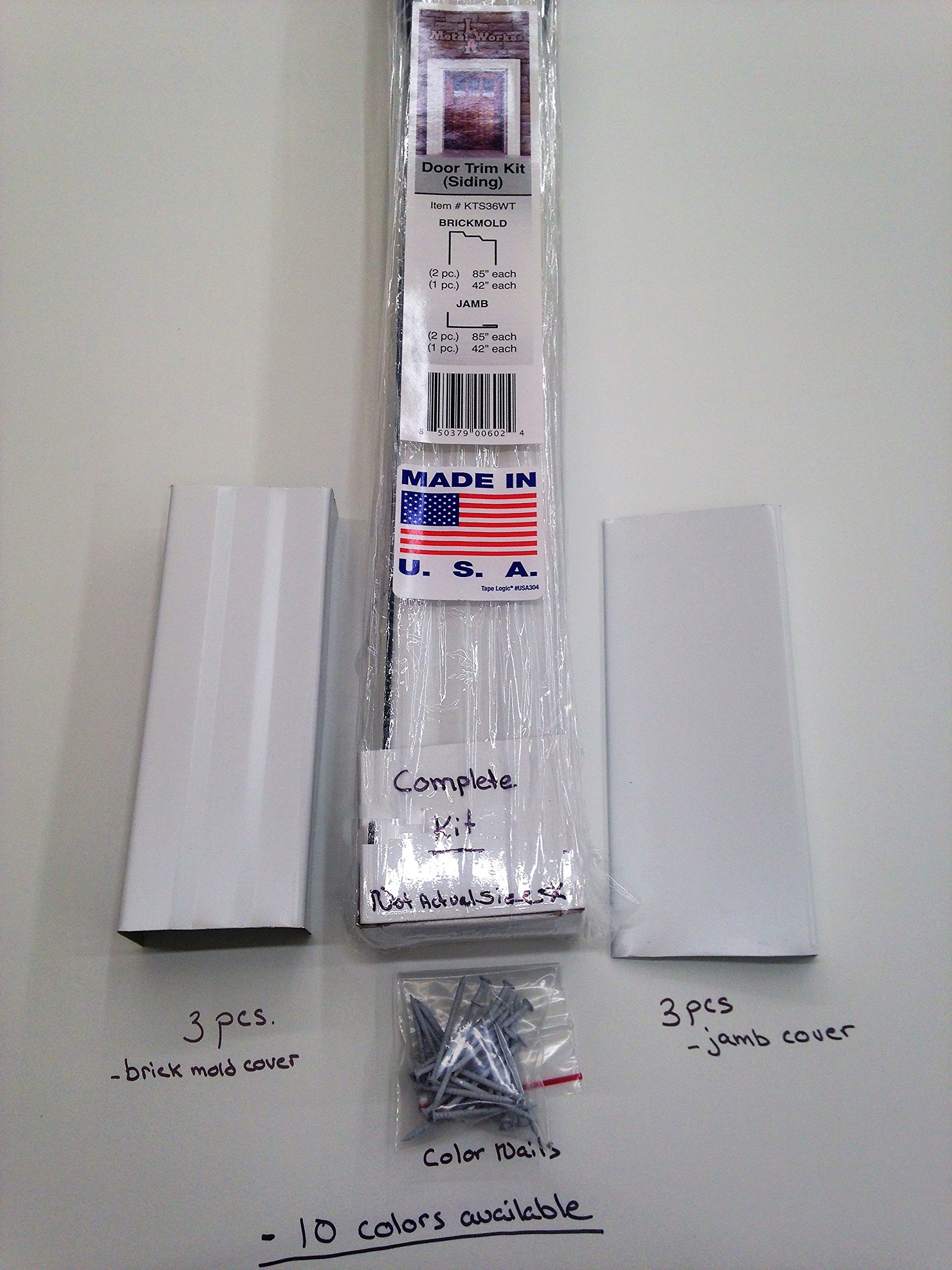 Aluminum Door Trim Cladding Kit/For Siding (HAS RETURN TO WALL) (CHARCOAL GREY) by L A METALWORKS (Image #1)