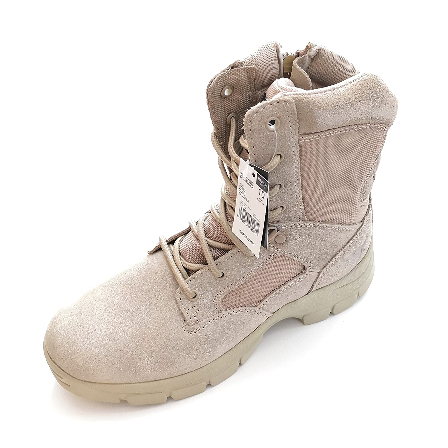 7e82867b4 Amazon.com | Texas Steer Mens Kamaal 2 Tan Work Boot Sand Combat Tactical  Military Army Shoes | Shoes