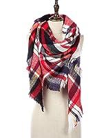 Natural Feelings Elegante Inverno Caldo Grande Coperta a Scacchi Plaid Sciarpa Wrap Scialle