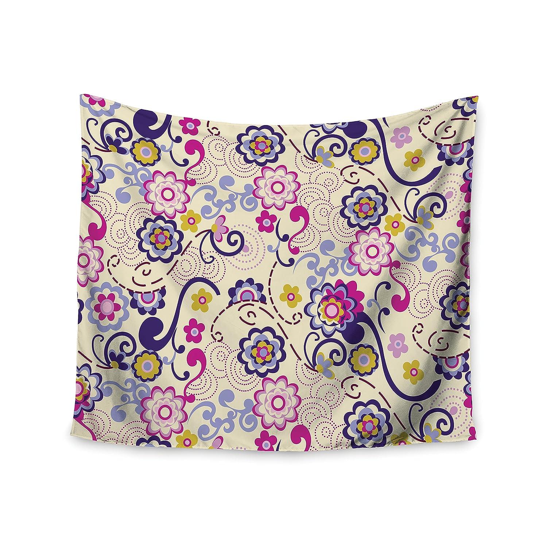 Kess InHouse Louise Machado Amethyst Purple Teal Fleece Throw Blanket 80 by 60