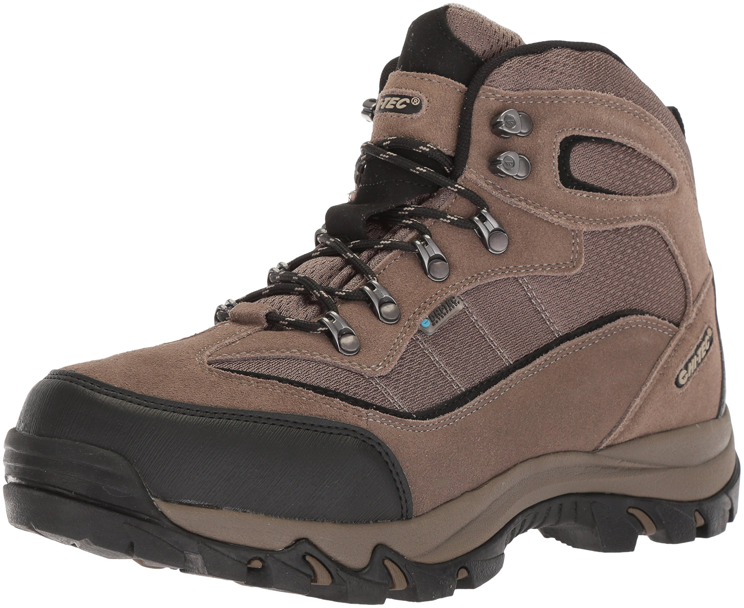 Hi-Tec Men's New 2018 Skamania Mid Waterproof Hiking Boot, Smokey Brown/Olive/Snow, 10.5 Medium US by Hi-Tec