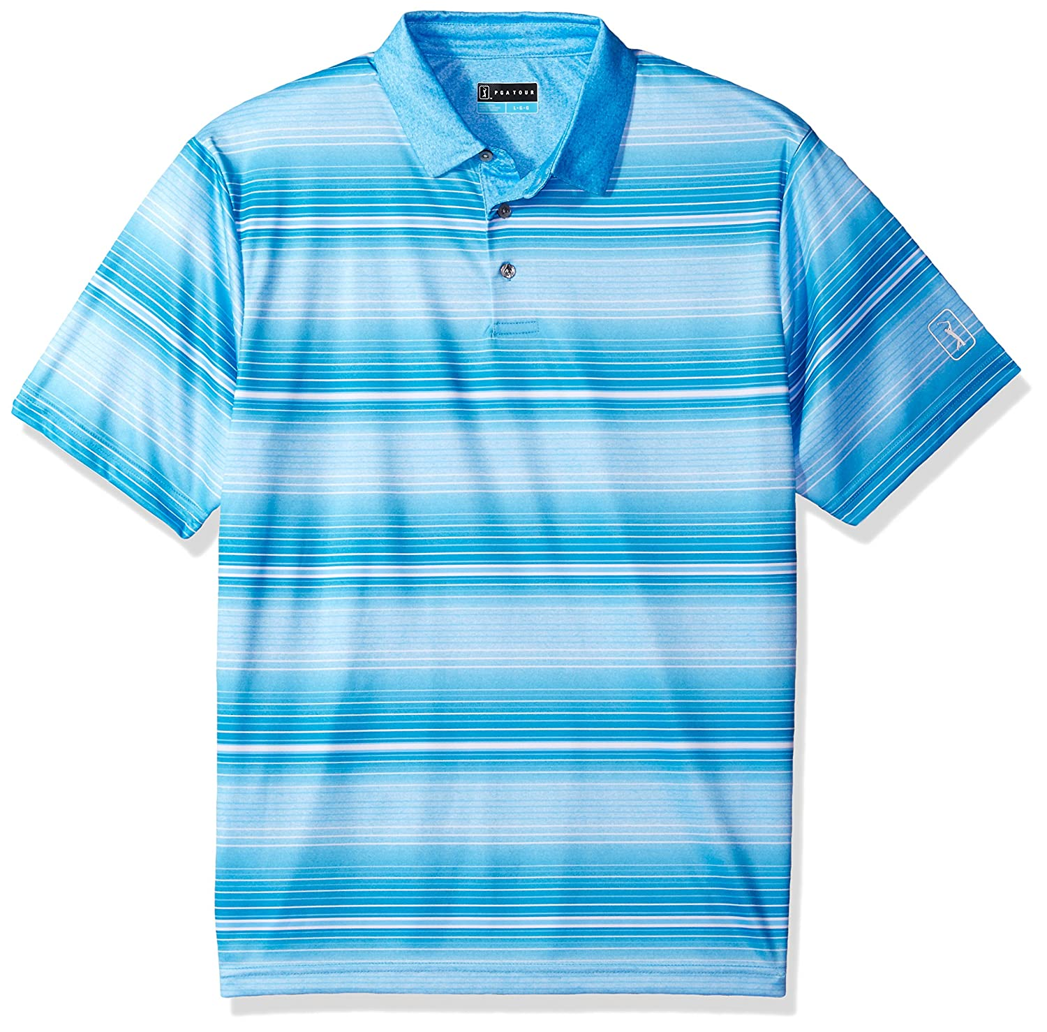 PGA TOUR SHIRT メンズ B0765DP8QP X-Large|Alaskan Blue Heather_pvks8069 Alaskan Blue Heather_pvks8069 X-Large