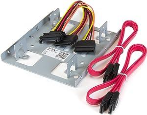 "StarTech.com 2.5"" to 3.5"" SATA Hard Drive Mounting Bracket Kit - Dual SATA SSDs/HDDs Mounting Bracket for Mounting Bay (BRACKET25X2)"