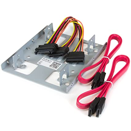 """Akasa Dual 2.5 SSD//HDD Mount Fit 2 x 2.5/"""" in a 3.5/"""" bay Fit Laptop Hard Drive PC"""