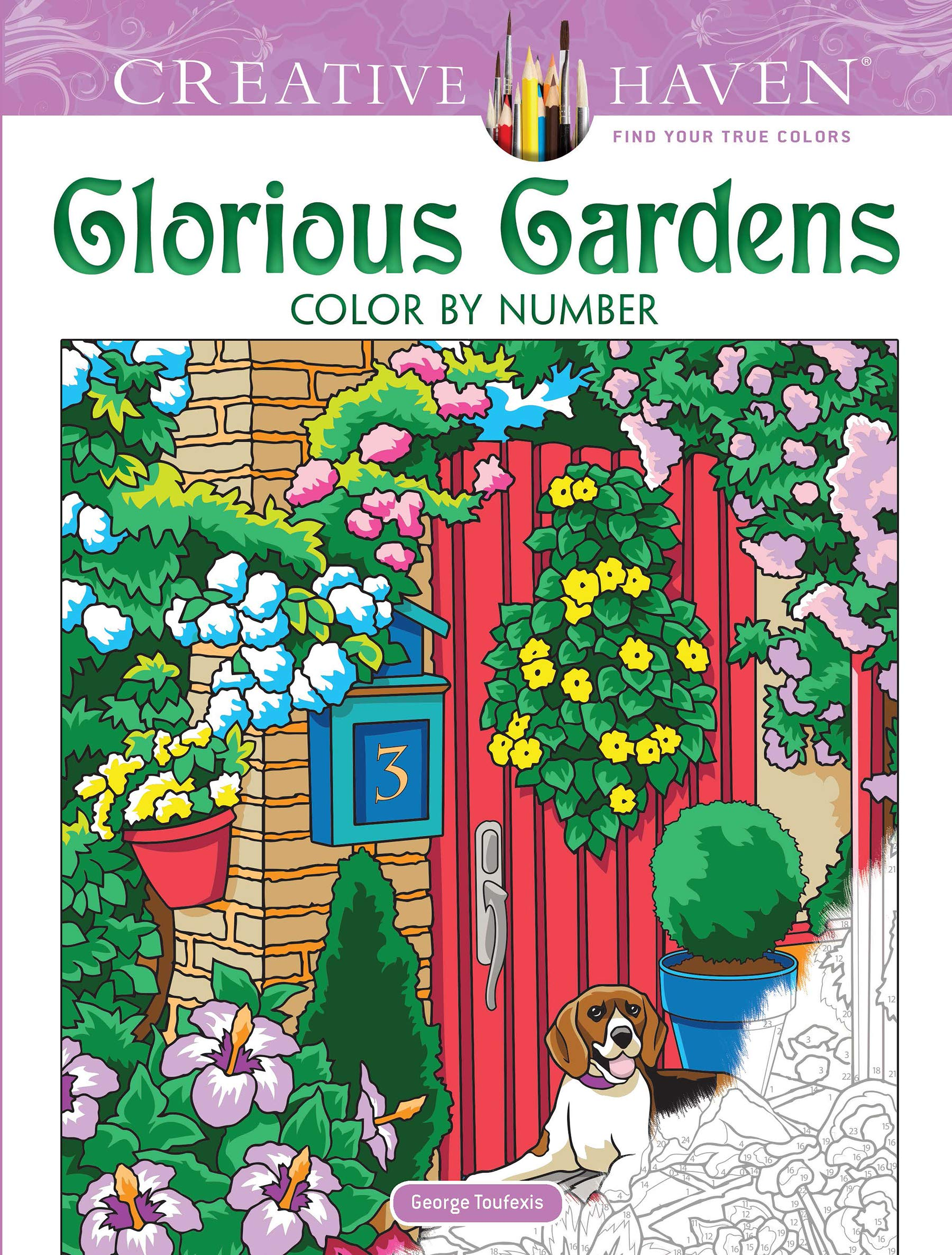 - Amazon.com: Creative Haven Glorious Gardens Color By Number