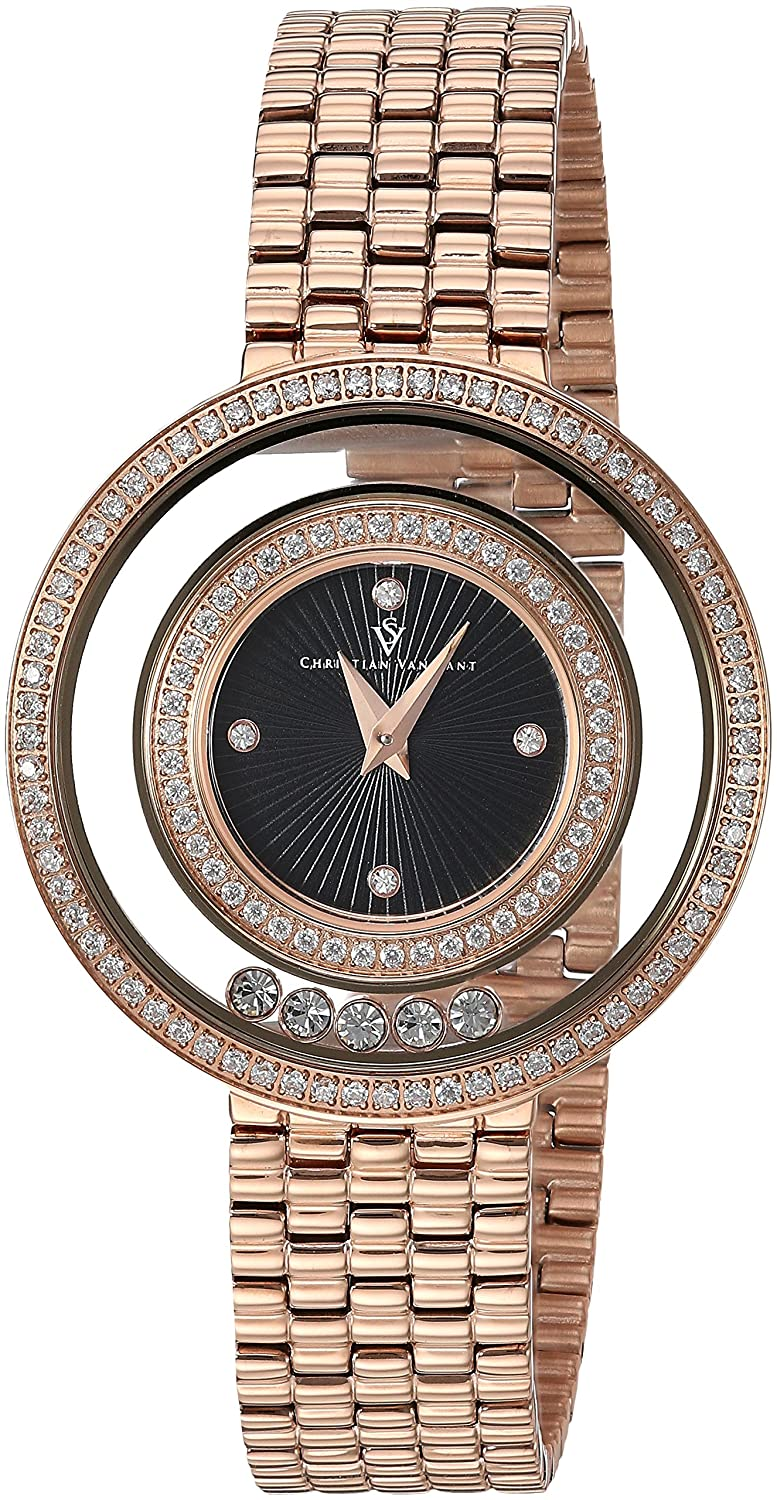 Christian Van Sant Women 's ' gracieuse ' QuartzステンレススチールCasual Watch, Color :ローズgold-toned (モデル: cv4833 ) B079S1CTS3